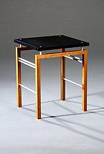 U Side Table by Carol Jackson (Wood & Metal Side Table)