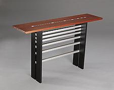 Fibonacci II by Carol Jackson (Wood Console Table)