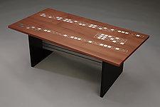 Cherish the Earth by Carol Jackson (Wood & Metal Coffee Table)