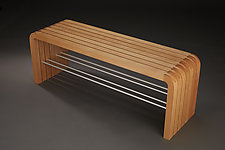 Beech Bench by Carol Jackson (Wood Bench)