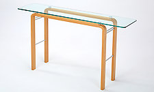 CURVEiture Glass Console Table by Carol Jackson (Wood Console Table)