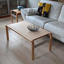 CURVEiture Wood Coffee Table by Carol Jackson (Wood Coffee Table)