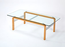 CURVEiture Glass Coffee Table by Carol Jackson (Wood Coffee Table)