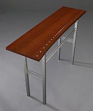 Fluid Dynamics by Carol Jackson (Wood & Metal Console Table)