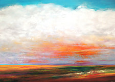 Across the Prairie by Mary Johnston (Oil Painting)