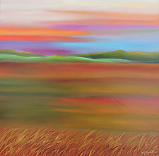 Distant Hills by Mary Johnston (Oil Painting)
