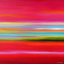 Abstract Day No.3 by Mary Johnston (Oil Painting)