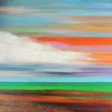 Orange in the Sky by Mary Johnston (Oil Painting)