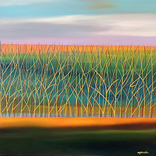 Trees No.10 by Mary Johnston (Oil Painting)