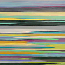 Striations 11 by Mary Johnston (Oil Painting)