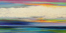 Colors in the Sky 7 by Mary Johnston (Oil Painting)