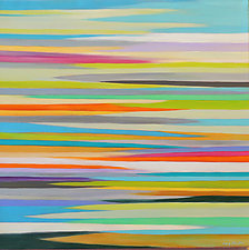 Striations 12 by Mary Johnston (Oil Painting)