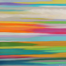 Striations 22 by Mary Johnston (Oil Painting)