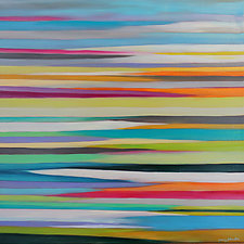 Striations 13 by Mary Johnston (Oil Painting)