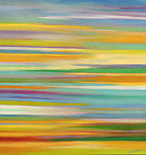 Spring Striations by Mary Johnston (Oil Painting)