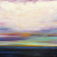 Soft Clouds Over Dark Water by Mary Johnston (Oil Painting)