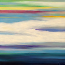 Clouds Over Water by Mary Johnston (Oil Painting)