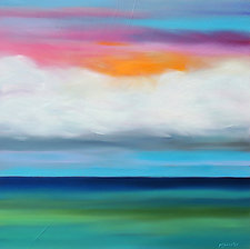 Sunburst Over Water No.2 by Mary Johnston (Oil Painting)