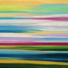 Striated Day by Mary Johnston (Oil Painting)