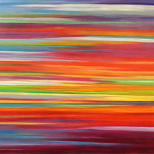 Sunset Striations by Mary Johnston (Oil Painting)