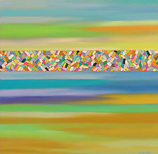 Color Wall 2 by Mary Johnston (Oil Painting)