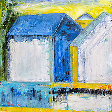 Blue Barn, White Light by Janice Sugg (Oil Painting)