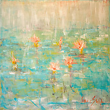 White Light Lily Pond by Janice Sugg (Oil Painting)