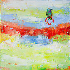 Inner Circle Hummingbird by Janice Sugg (Oil Painting)