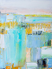 White Sky/Golden Horizon by Janice Sugg (Oil Painting)