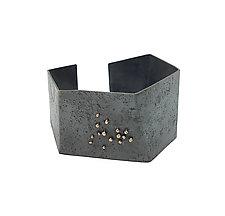Textured Gold Dot Cuff by Lauren Markley (Gold & Silver Bracelet)