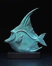 Moorish Idol Fish by Georgia Pozycinski and Joseph Pozycinski (Metal Sculpture)