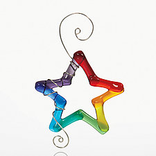 Rainbow Bright by Kimberly  Rich (Art Glass Ornament)