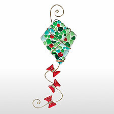 Christmas Kite by Kimberly  Rich  (Art Glass Ornament)