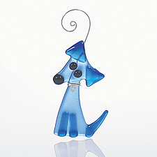 Dog Named Blue by Kimberly  Rich (Art Glass Ornament)