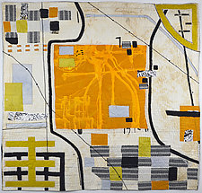 LineScape No.39 (Country Grid) by Ayn Hanna (Fiber Wall Hanging)