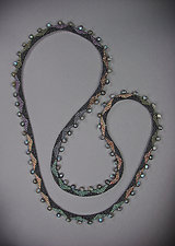 Dragon's Tail Multi with Labradorite by Julie Long Gallegos (Beaded Necklace)