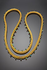 Dragon Princess Opal and Gold Beaded Necklace by Julie Long Gallegos (Beaded Necklace)