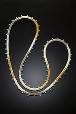 Myths and Legends Turquoise and Beaded Necklace by Julie Long Gallegos (Beaded Necklace)