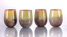 Stemless Wine Glasses by Bryan Randa (Art Glass Drinkware)