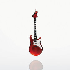 I Love Rock N' Roll by Bryan Randa (Art Glass Ornament)