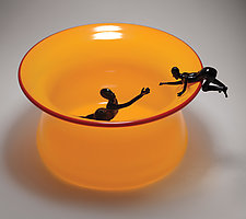 Helping Hand by Bryan Randa (Art Glass Bowl)