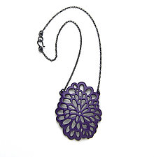 Oval Flower Pendant Necklace by Joanna Nealey (Jewelry Necklaces)