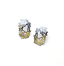 Stick and Stone Gold Stud Earrings by Joanna Nealey (Gold & Silver Earrings)