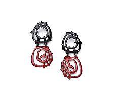 Double Orbit Earrings by Joanna Nealey (Enameled Earrings)