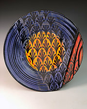 Plate with Fleurs de Lis III by Thomas Harris (Ceramic Platter)
