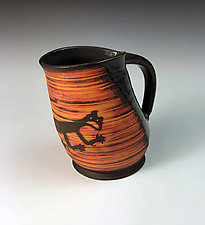 Petroglyph Mug - Cat by Thomas Harris (Ceramic Mug)