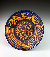 Patterned Fleurs Plate II by Thomas Harris (Ceramic Platter)