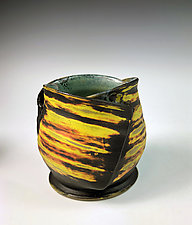 Folded Cup I - Yellow by Thomas Harris (Ceramic Cup)