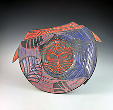 Plate with Leaf Pattern by Thomas Harris (Ceramic Platter)