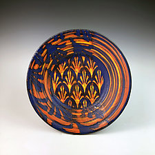 Patterned Fleurs Plate by Thomas Harris (Ceramic Platter)